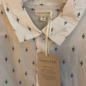 Garnet Hill Organic Cotton Shirt